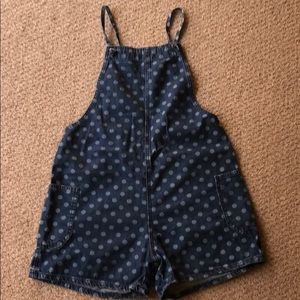 BDG overall shorts size small